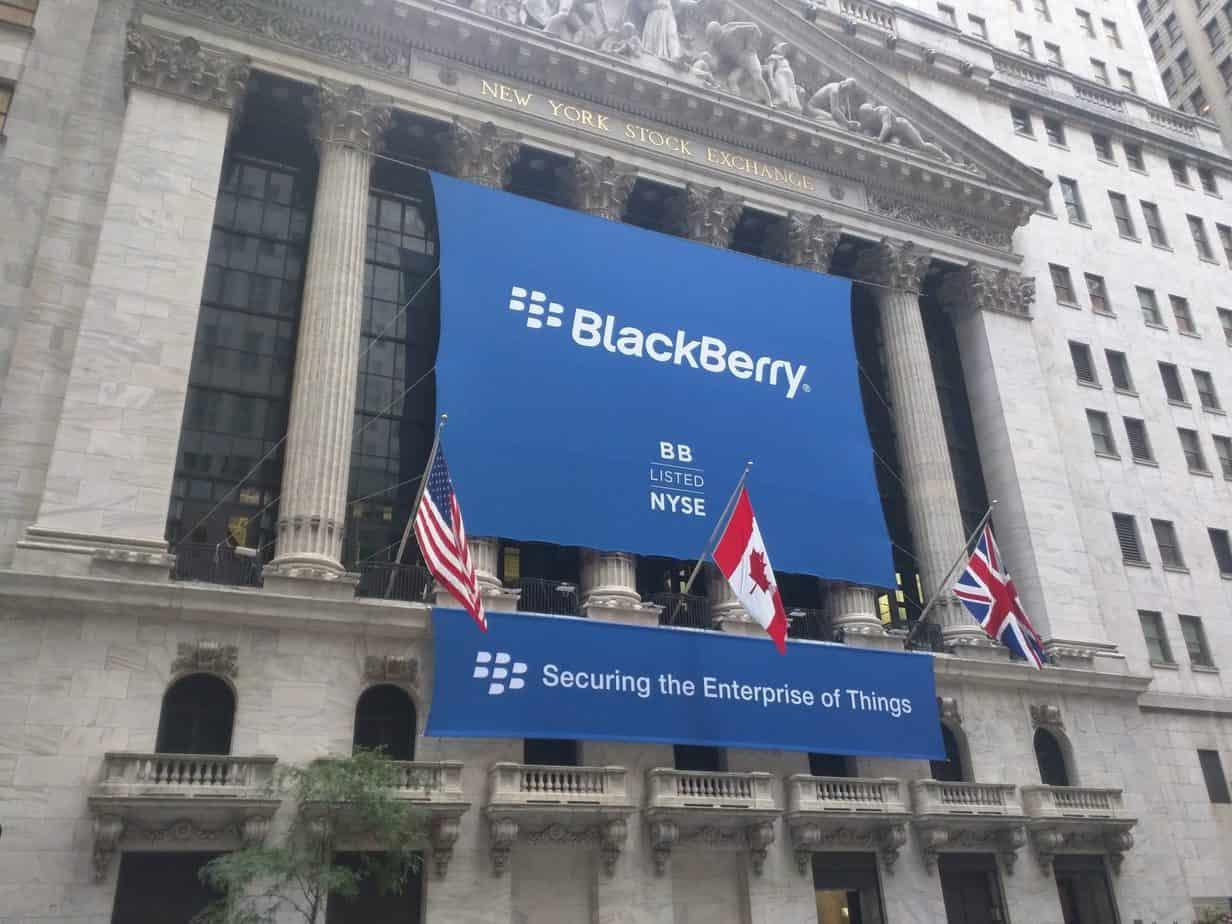 blackberry new york stock exchange