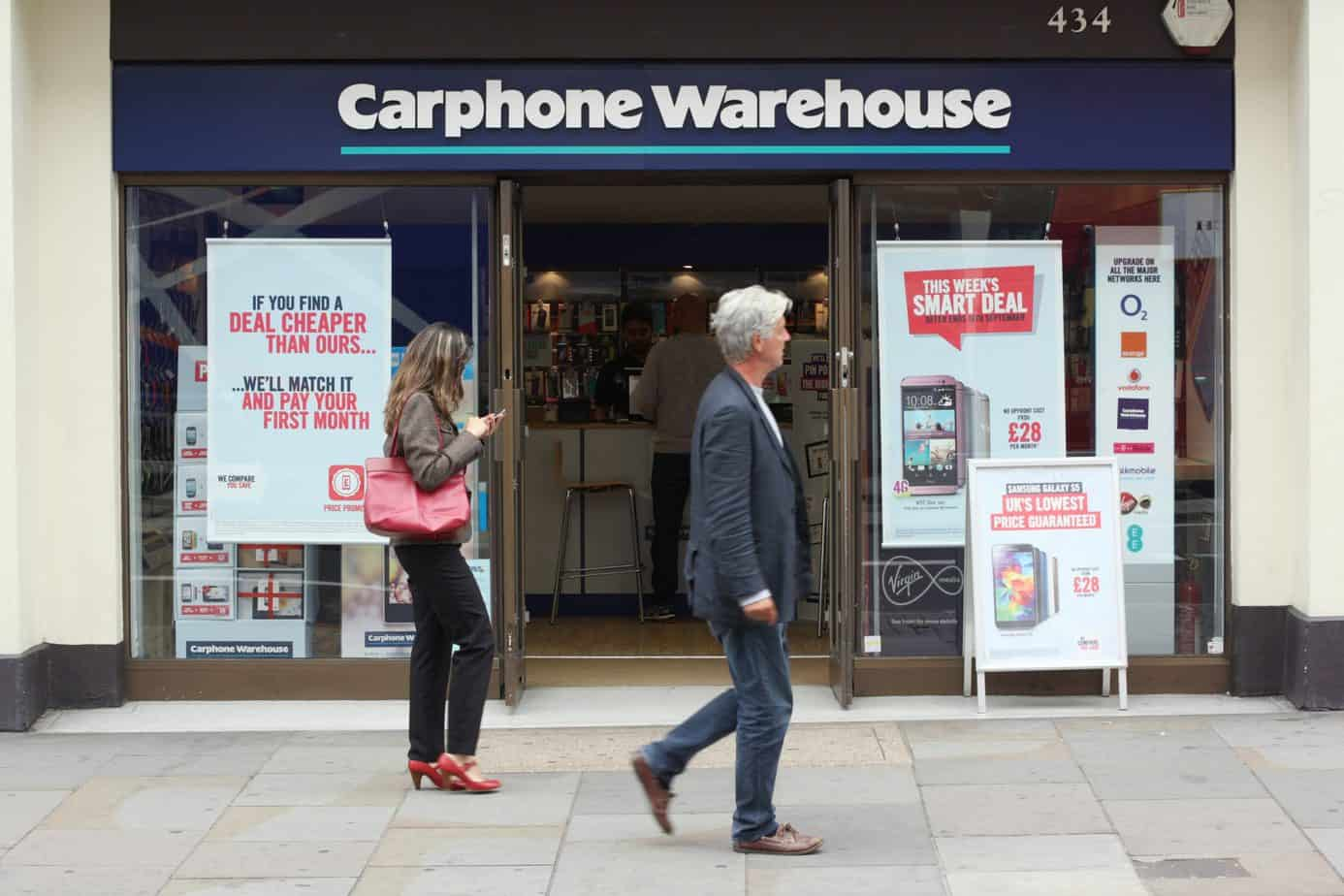 carphone warehouse shop in london