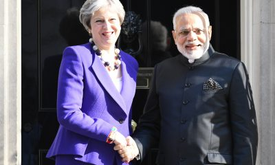 modi and may downing street shaking hands