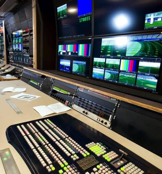 television studio editing panel