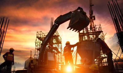 construction industry digger rebar
