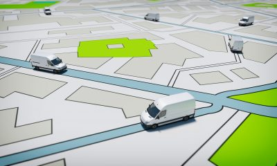 fleet trucks vans on map